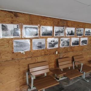紀州鉄道の終点「西御坊」駅に展示されていた、古き良き紀州鉄道の写真。 【2019年04月 和歌山県御坊市】