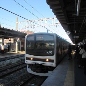 JR日光線「鹿沼」駅、宇都宮行の普通列車が到着。 【2019年12月 栃木県鹿沼市】