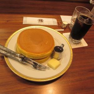 東京のお店で飲む、大阪のアイスコーヒーとホットケーキ。 【2020年07月 大阪府大阪市】