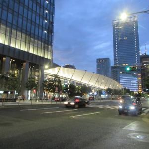飛行機の羽のような?屋根が印象的な、東京駅八重洲口。 【2020年07月 東京都中央区】