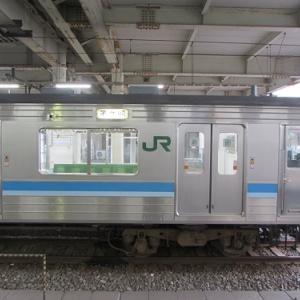 JR・京王「橋本」駅。出発を待つ、折り返し茅ケ崎行きの列車。 【2020年09月 神奈川県相模原市】