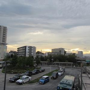 狭山市駅前の、夕焼け。 【2020年09月 埼玉県狭山市】