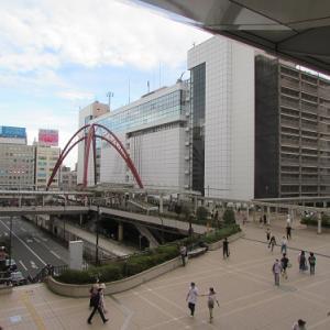 モノレールの立川北駅より、JR立川駅前を一望。 【2020年09月 東京都立川市】
