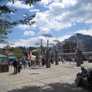 広々とした駅前広場で、グルメフェア。 【2021年05月 埼玉県秩父市】