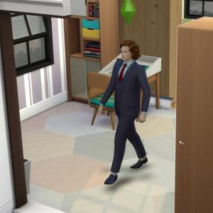 【シムズ4】ホレス、弁護士として初出勤