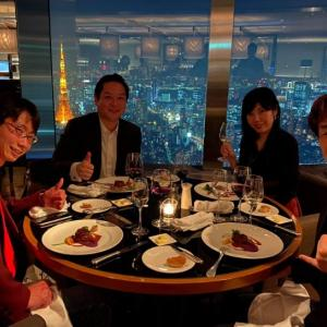 Hana道場の生みの親、SAP福田社長と東京の夜景を一望しながら会食しました