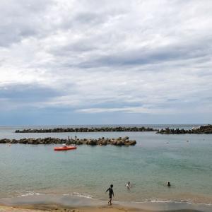 久しぶりに福井の夏の海。(越廼海水浴場)