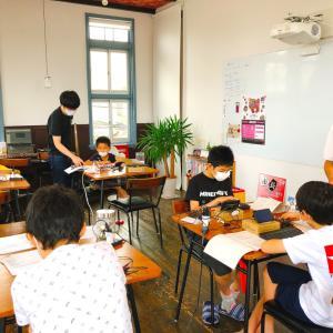 夏休み、子どもも大人も暑い中修行中。