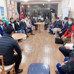 鯖江JCの方々が来られました。学生団体with会議。