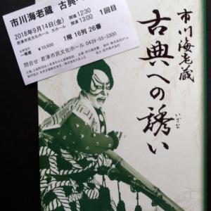 市川海老蔵 『古典への誘い』 へ出かけた