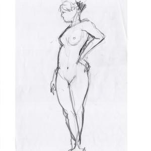 いかん、線が不安定だと、美術モデルも募集中です。