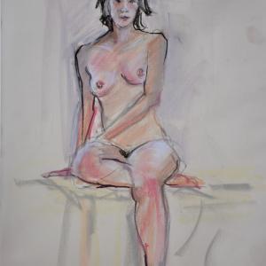 パステル画スケッチから、美術モデルも募集中