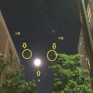 月と木星と土星とスカイツリーとシオンちゃんのコラボレーション☆