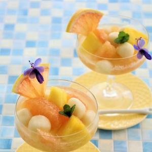 懐かしの白玉入りフルーツポンチ (レシピ)