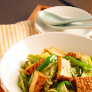 節約!厚揚げとキャベツのオイスター炒め (レシピ)