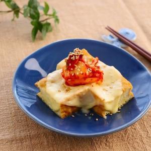 レンジで簡単!厚揚げのキムチーズ (レシピ)