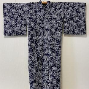 和裁塾だより 7/8 7/10 7/11 乱菊紺地浴衣完成! 袷羽織完成!