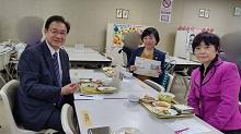 今日も行ったわよぉ〜学校給食フェア。そして仙台市国民健康保険運営協議会