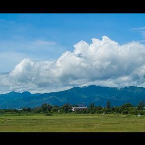手稲山と夏雲