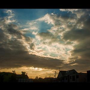 雄大な夕雲