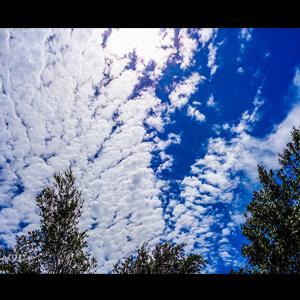 宇宙から見た様な雲