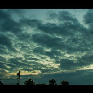 イワシ雲,夕空に現れる