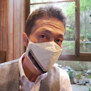 勝負下着ならぬ上田紬の勝負マスク