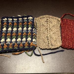 【棒針編み講師科】アラン模様とバスケットツイードのフード付きカーディガンを作ることにしました。