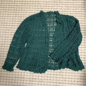 【かぎ針編み講師科】一年越しのカーディガン