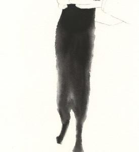 黒猫 水彩 墨