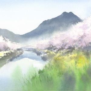 桜 水彩画