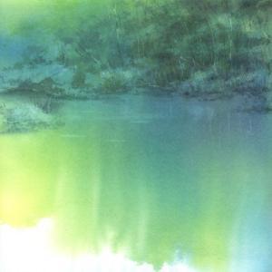上高地 明神池 水彩画