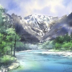 【オンライン】春崎幹太のドラマティックに描く水彩画 ~上高地~