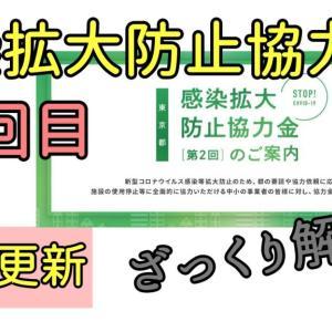 東京都の感染拡大防止協力金 2回目の申請について