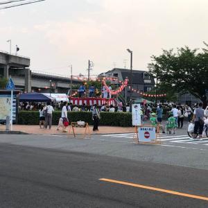 7.29.会社の前で清須市「阿原納涼盆踊り」に協賛しました。