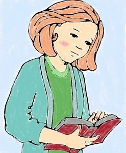イラスト「本を読む女の子」