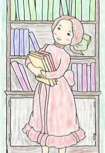 イラスト「絵本を読ませてあげよう」