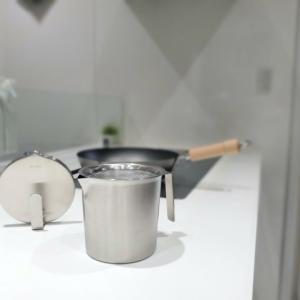【レビュー】ケユカのオイルポットはおしゃれでキッチンインテリアを格上げ!ステンレスだからお手入れも簡単でした