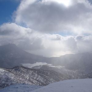 速報! 漁岳スノーハイキング