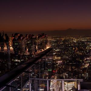 渋谷スクランブルスクエア屋上からの夜景