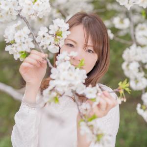 桜の色づく頃に【モデル:mikaさん】