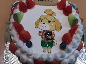 カイザーケルンのケーキ「とびだせ動物の森のしずえさん」