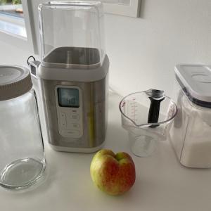 手作りリンゴ酵母でパンを焼く