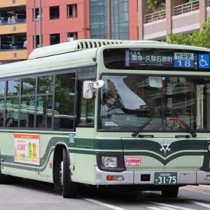 登場15年を迎えた竹田駅西口経由の18系統