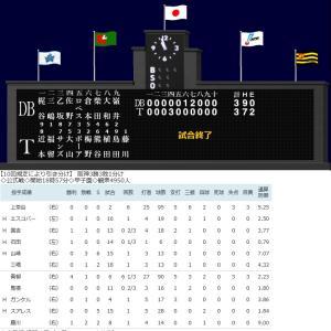阪神21イニングぶり得点 梅野が先制3号3ラン!阪神引き分け!DeNA山下の適時打で追いつく!