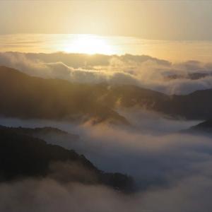 佐敷城跡からの雲海