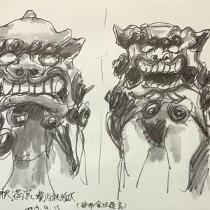 安井金毘羅宮の狛犬
