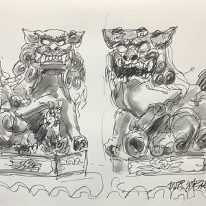 醒ヶ井宿場町 加茂神社の狛犬