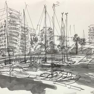 明石港のヨットハーバー