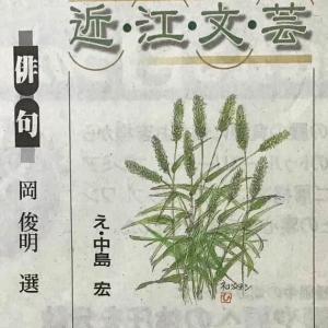 京都新聞近江文芸(8/1)